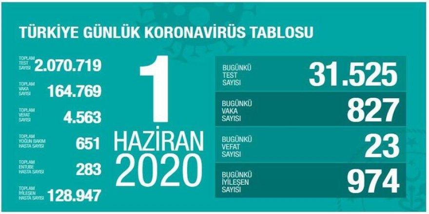 Türkiye'de Coronavirüs: 23 kişi daha hayatını kaybetti, 827 yeni tanı kondu