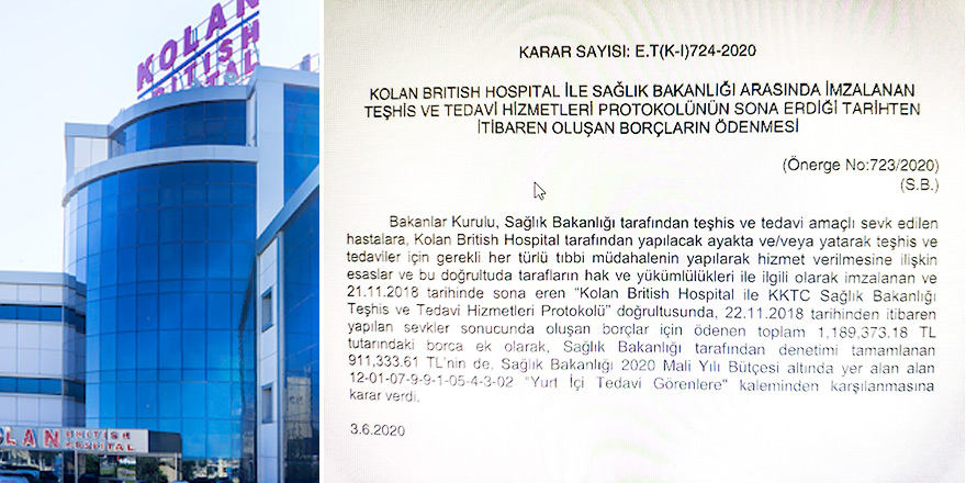 Kolan Hastanesi'ne 2 Milyon 101 bin TL