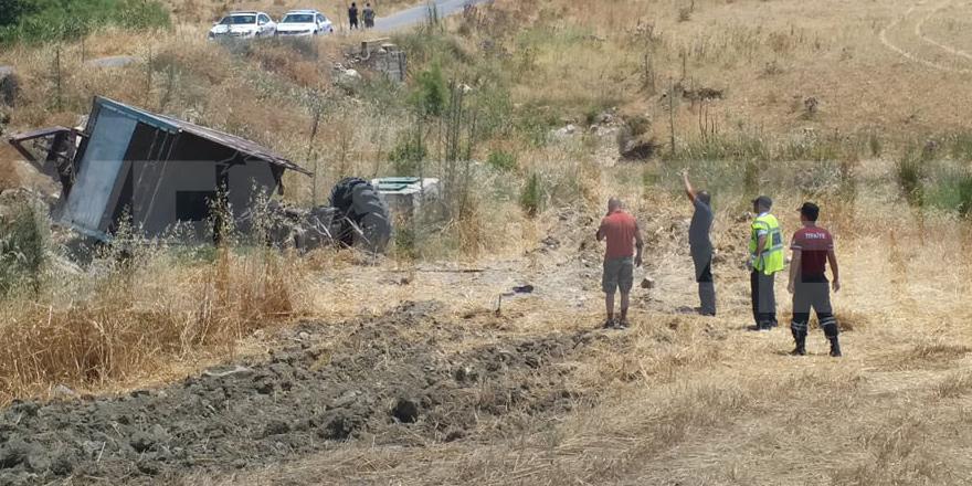 Traktör kazasında 1 ölü