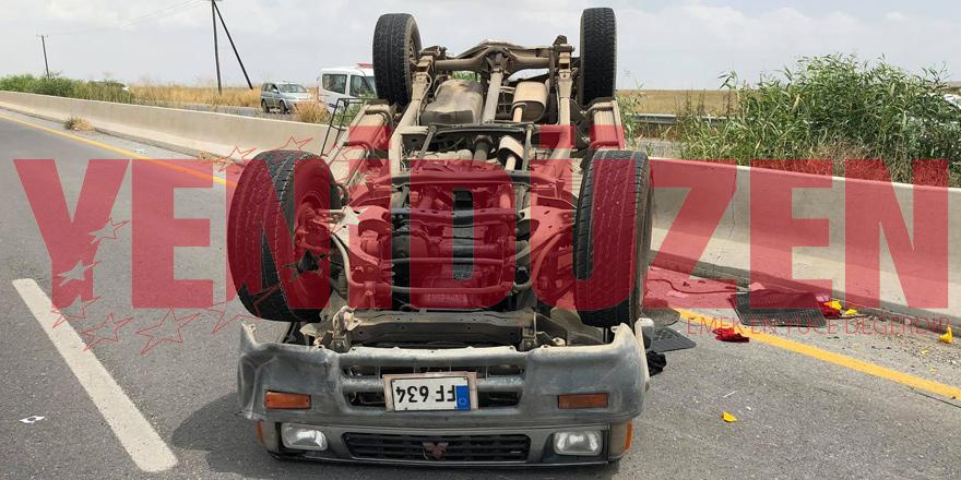 Türkeli kavşağında korkutan kaza