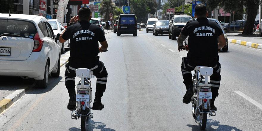 Girne'de elektrikli bisiklet timi devrede