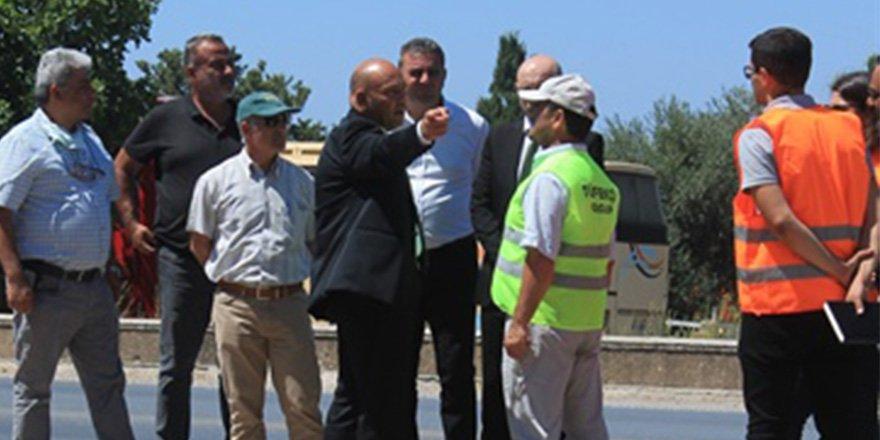 Atakan, Girne Batı Çevreyolu I. Etap çalışmalarında incelemelerde bulundu