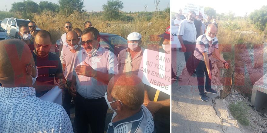 Taşkentliler 'yamalı yol' için eylem yaptı