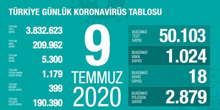 Türkiye'de Coronavirüs: 18 kişi hayatını kaybetti, 1024 yeni tanı kondu