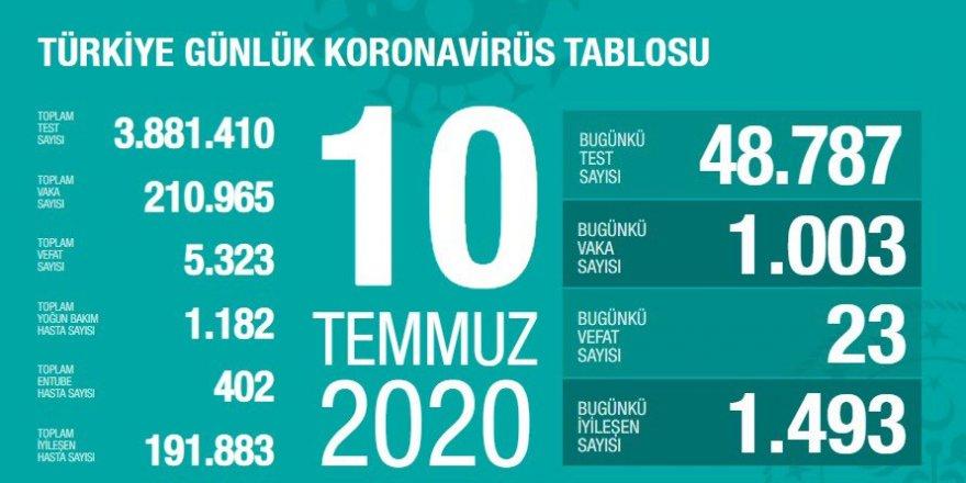 Türkiye'de Coronavirüs nedeniyle 23 kişi hayatını kaybetti, 1003 yeni tanı kondu