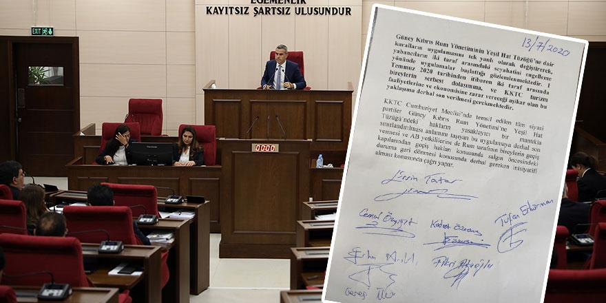 Meclis'ten 'Geçiş hakkı' deklarasyonu