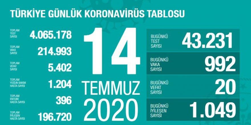 Türkiye'de 33 gün sonra yeni tespit edilen Covid-19 vaka sayısı binin altında