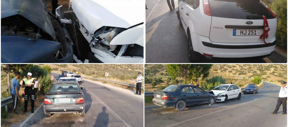 Girne-Tatlısu yolunda kaza