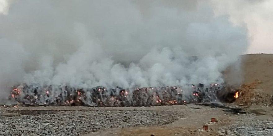 Güngör çöplüğünde yangın