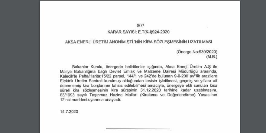 AKSA'nın kira sözleşmesi uzatıldı