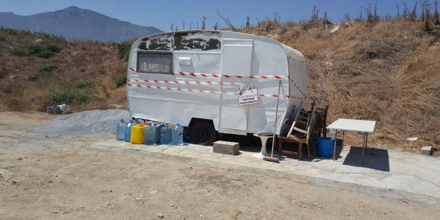 Karakum bölgesindeki karavan ve çadır zabıta ekipleri tarafından kaldırıldı