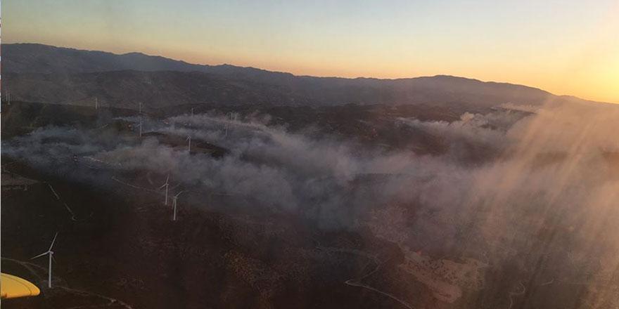 Limasol-Baf arasında orman yangını