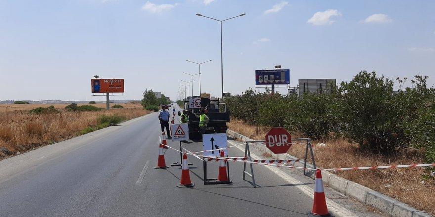 Lefkoşa-Girne anayolunun bir kısmında trafik tek şeritten verilecek