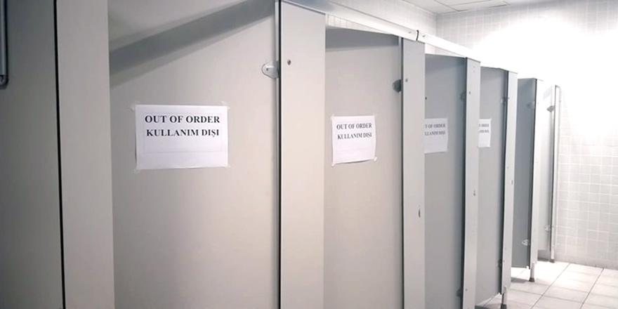 Ercan'da tuvalet sıkıntısı