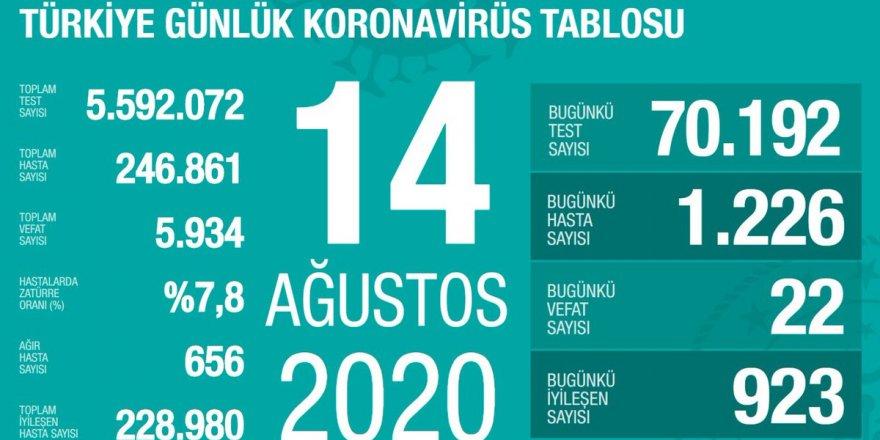 Türkiye'de Coronavirüs: 22 kişi hayatını kaybetti, 1226 yeni tanı kondu