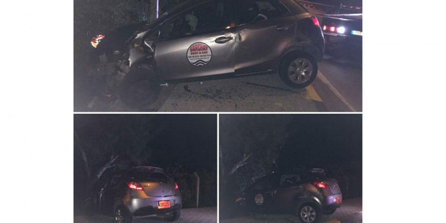 Girne - Alsancak yolunda kaza: Sürücü 5 yaralıyı olay yerinde bıraktı