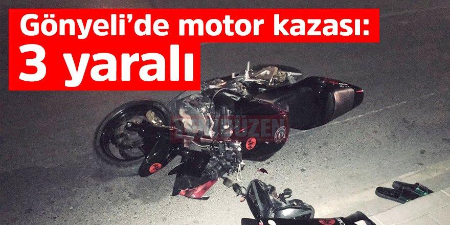 Motor sürücüsü yayalara çarptı