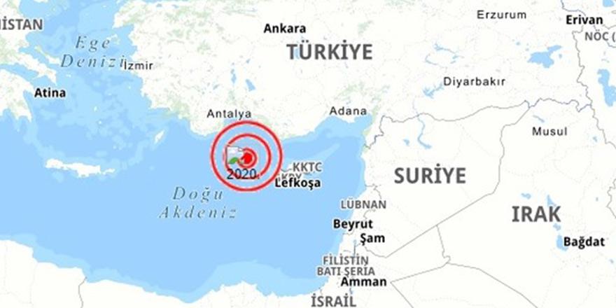 Kıbrıs'ın kuzeybatısında 3,7 büyüklüğünde deprem