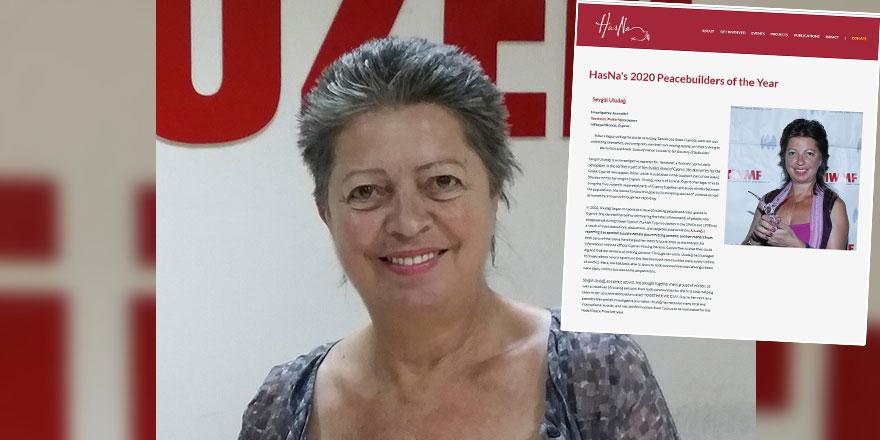 "Sevgül Uludağ  ""2020 yılının Barış Aktivisti"""