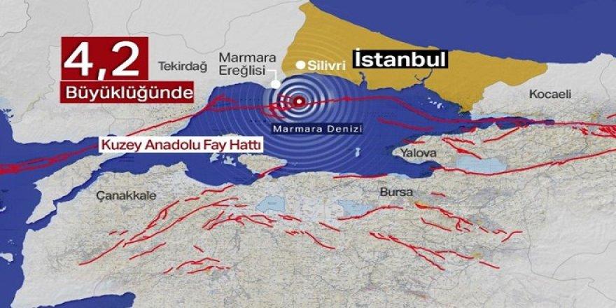 Marmara Denizi'nde 4.2 büyüklüğünde deprem