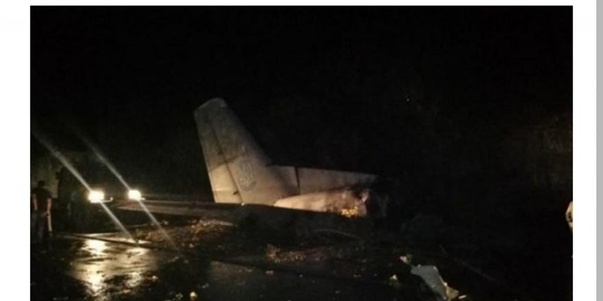 Ukrayna'da uçak düştü