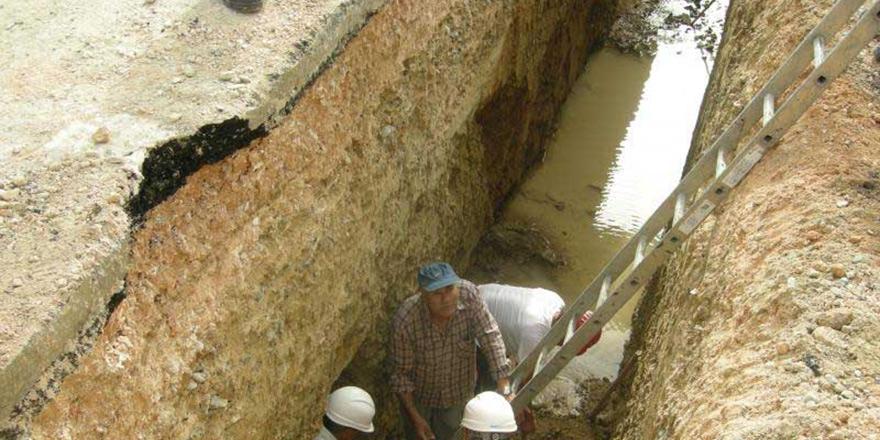 Kanalizasyon çalışmasında antik eserler çıktı