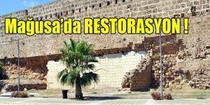 Tarihi surlar beyaz duvara döndü
