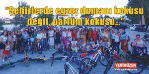 Kadınlar, bisikletleri ile sokaklardaydı…