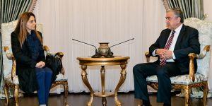 Akıncı, YÖDAK Başkanı Büke'yi kabul etti