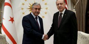 Akıncı ile Erdoğan yaklaşık bir saat görüştü