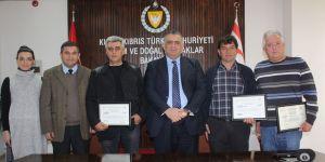 3 çiftliğe hastalıktan ari sertifikası verildi