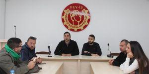 Gençler Devrimci Genel İş Sendikası'nı ziyaret etti