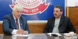CTP heyeti Türk-Sen'i ziyaret etti