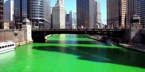 Nehiri yeşile boyadılar