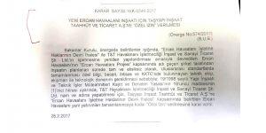 Taşyapı'ya Ercan için ÖZEL İZİN!
