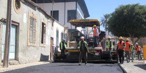 Lefkoşa'da asfaltlama Surlariçi'nden başladı