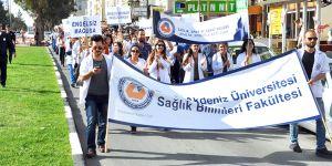 DAÜ öğrencileri sağlık için yürüdü