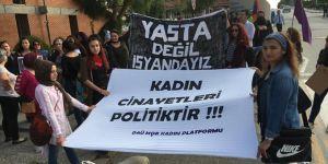 Kadın cinayetlerine protesto!