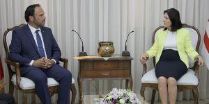Siber, Hasan Sadıkoğlu'nu kabul etti