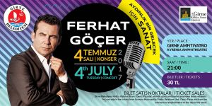 Ferhat Göçer Girne'de konser verecek