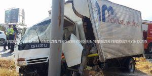 Girne - Boğaz yolunda korkutan kaza