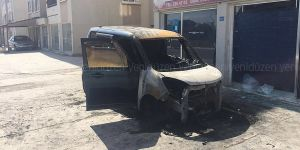 Nazime Bozok'a ait araç kundaklandı