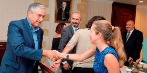 Akıncı, #UniteCyprusNow ekibini kabul etti