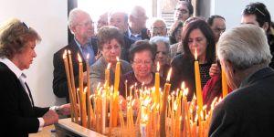 Kıbrıslı Rumlar, Büyükkonuk'ta ayin yaptı