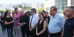 3 sendika Girne Gelir ve Vergi Dairesi'nde uyarı grevi yaptı