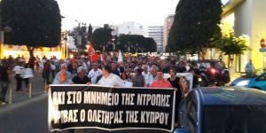 AKEL'den 'Grivas anıtına' karşı eylem