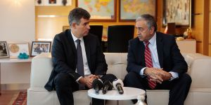 Akıncı, Barolar Birliği Başkanı Feyzioğlu ile görüştü