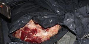 Demirhan'da 900 kilo kaçak et