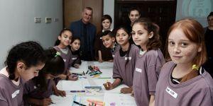 Surlariçi'nde yaşayan 30 çocuk Şubat tatili sanat kampına alındı