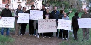 """""""Yenişehir Mahalleme Dokunma İnisiyatifi"""" eylem yaptı"""
